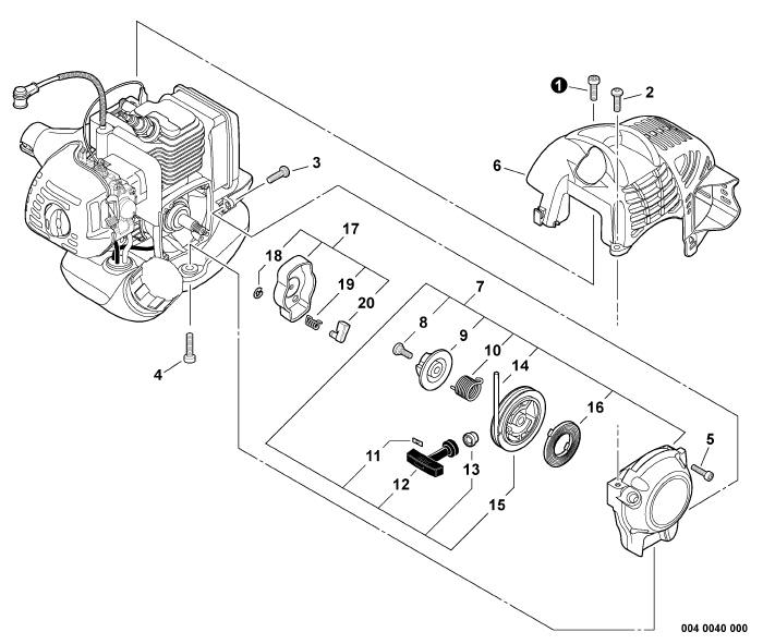 ECHO GT-225 Trimmer Parts Diagram SN S53912001001-S53912999999