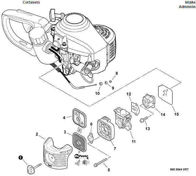 Echo Hc 155 Hedge Trimmer Parts Diagram Sn S68011001001