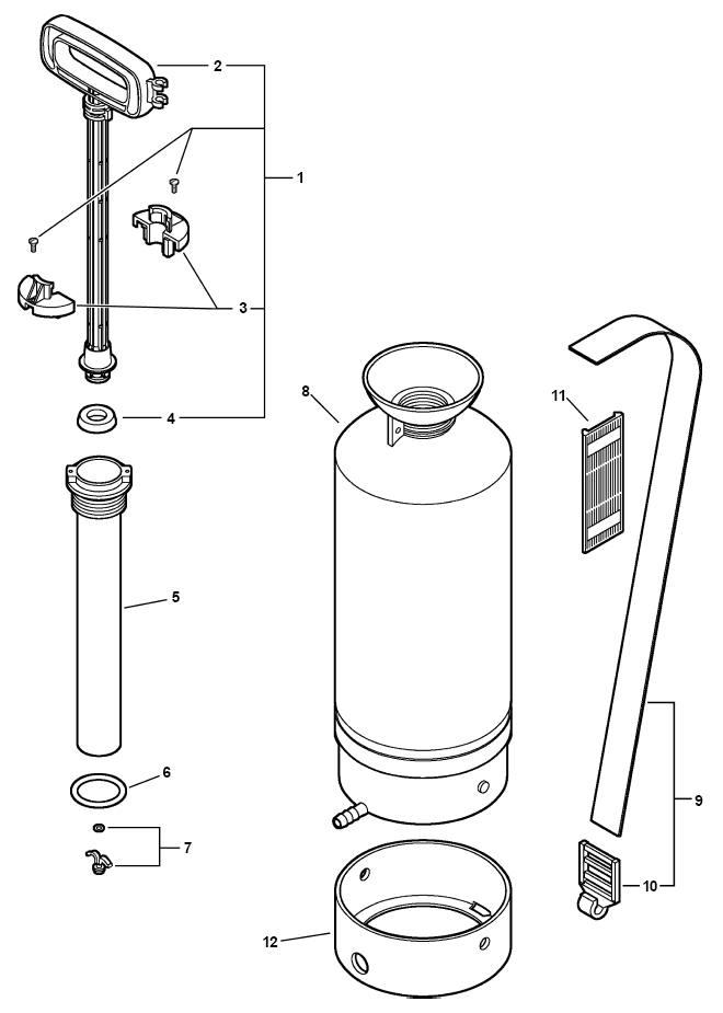 ECHO MS-20 Sprayer Parts Diagram SN ALL