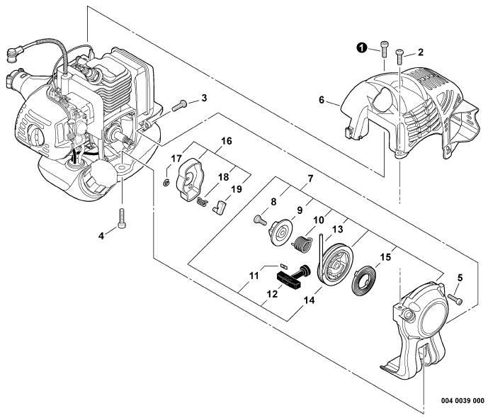 ECHO PAS-225 Parts Diagram SN S59511001001-S59511003000