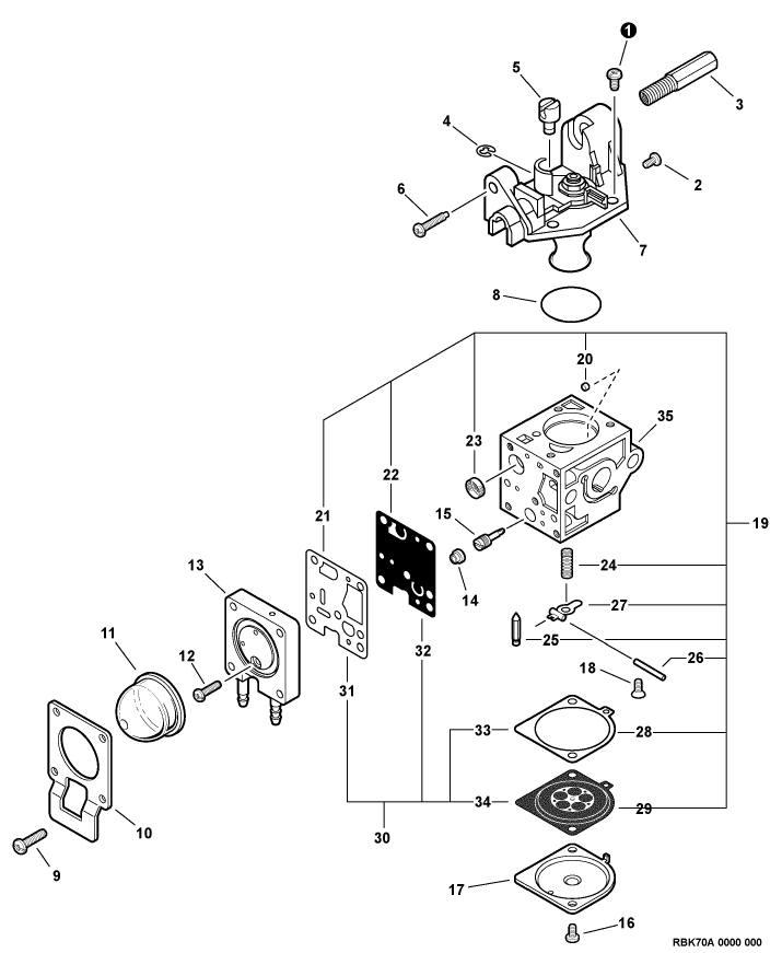ECHO PAS-230 Parts Diagram Serial Number S75212001001