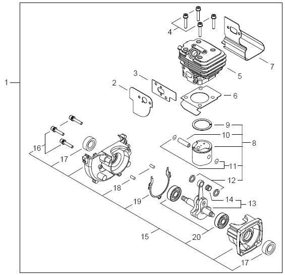 ECHO PB-250 Blower Parts Diagram SN P05412001001-P05412999999