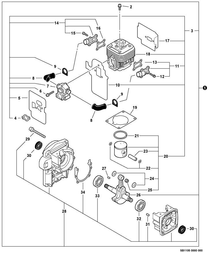 ECHO PB-500H Blower Parts Diagram Serial Number