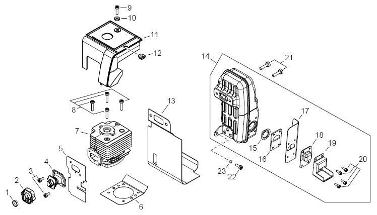 ECHO PB-770H Blower Parts Diagram SN P02912001001-P02912999999