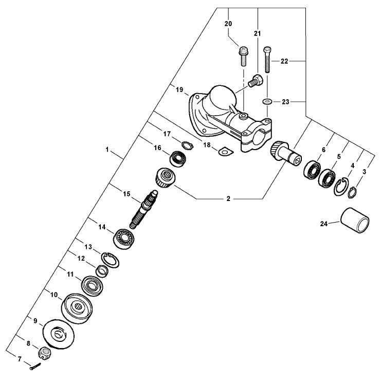 ECHO PE-200 Edger Parts Diagram Serial Number S75512001001