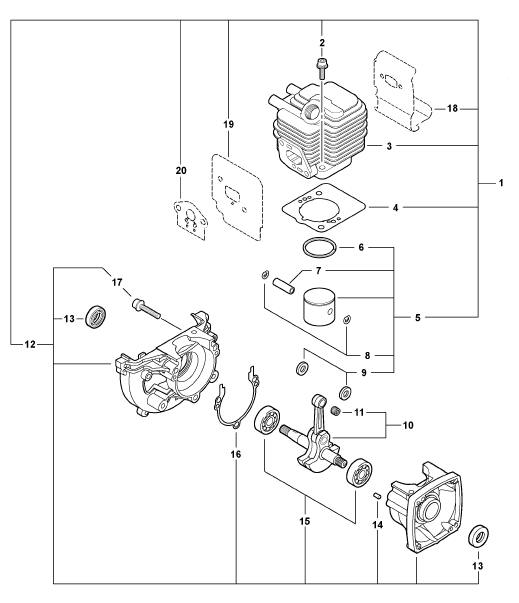 ECHO PB-250 Blower Parts Diagram SN P30911001001-P30911999999