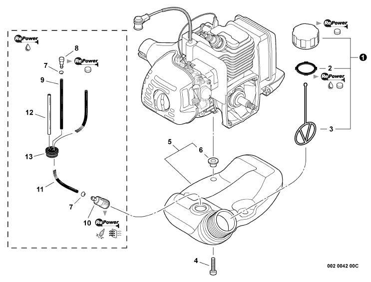 ECHO PE-225 Edger Parts Diagram Serial Number S78712001001