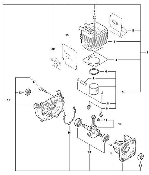 ECHO SRM-225 Trimmer Parts Diagram Serial Number