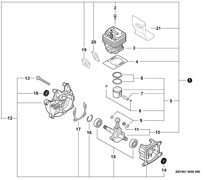 ECHO SRM-230 Trimmer Parts Diagram Serial Number 05001001