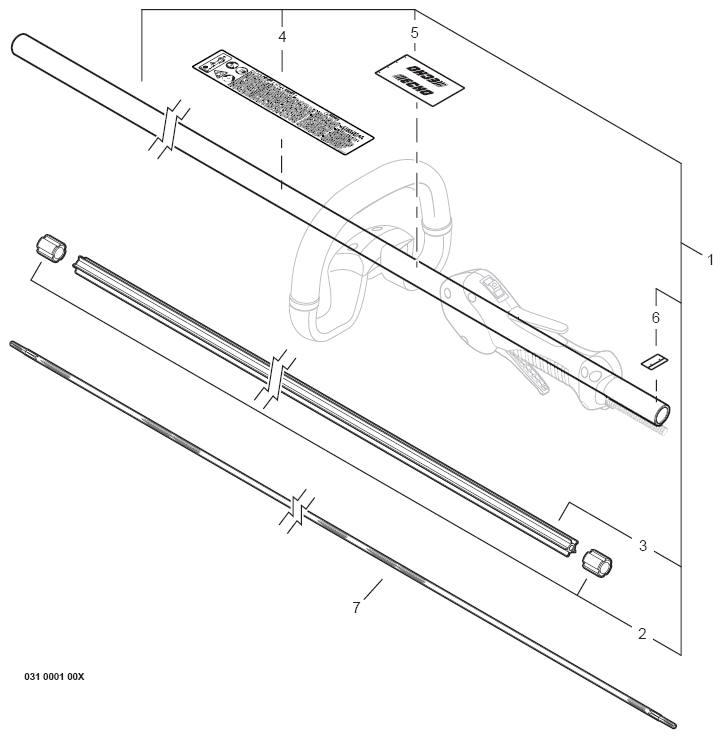 ECHO SRM-266T Trimmer Parts Diagram Serial Number
