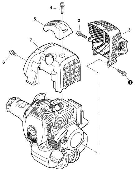 ECHO SRM-280T Trimmer Parts Diagram SN S66711001001