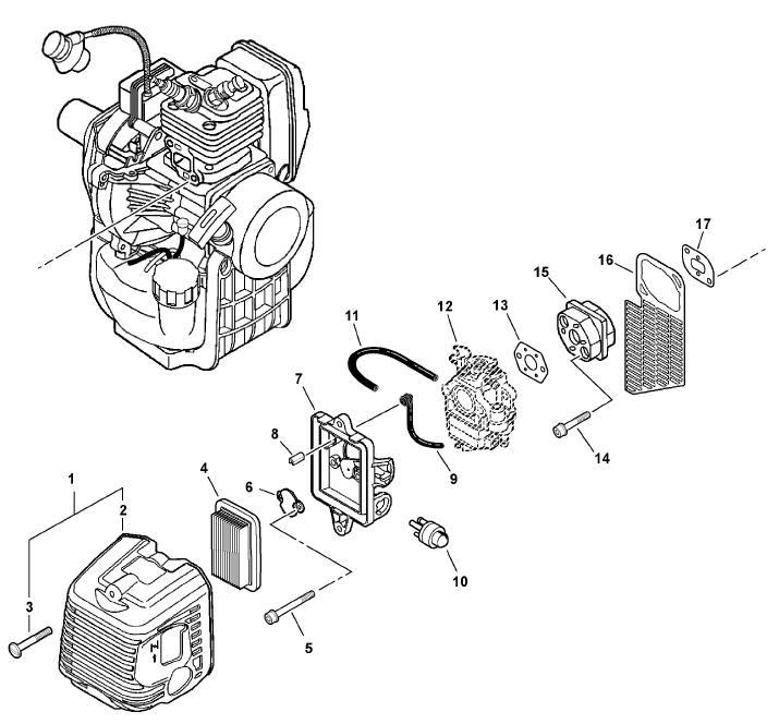 ECHO SRM-410U Brushcutter Parts Diagram Serial Number