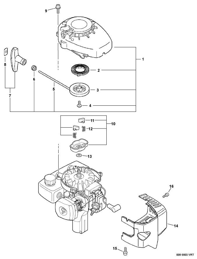 ECHO TC-210 Parts Diagram SN E14813001001-E14813999999