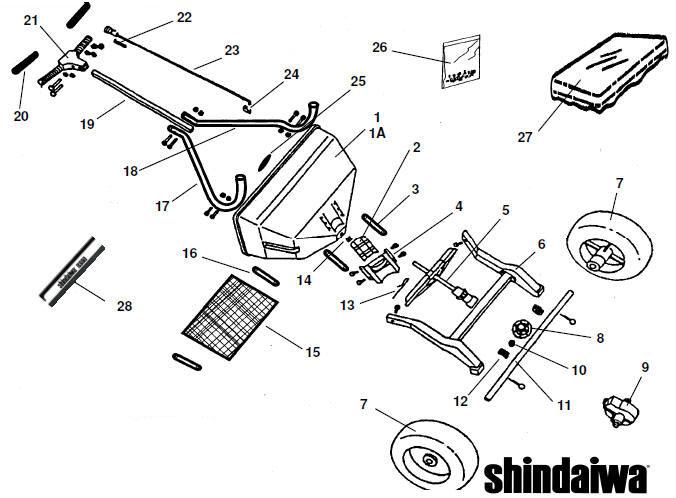 SHINDAIWA RS60 Spreader Parts Diagram SN ALL