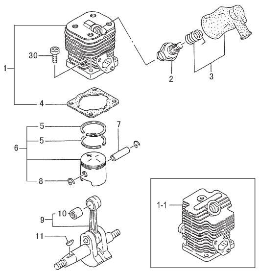 TANAKA TED-262R Parts Diagram SN ALL