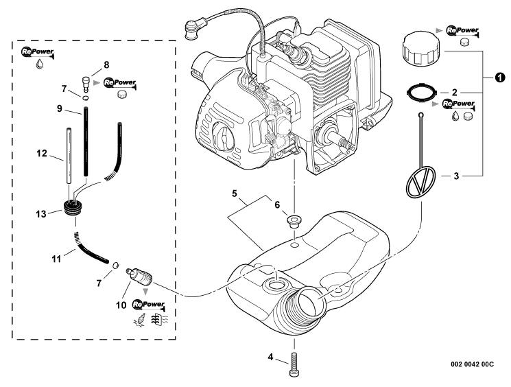 ECHO GT-225 Trimmer Parts Diagram Serial Number