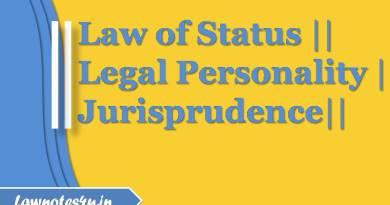 law of status legal personality jurisprudence