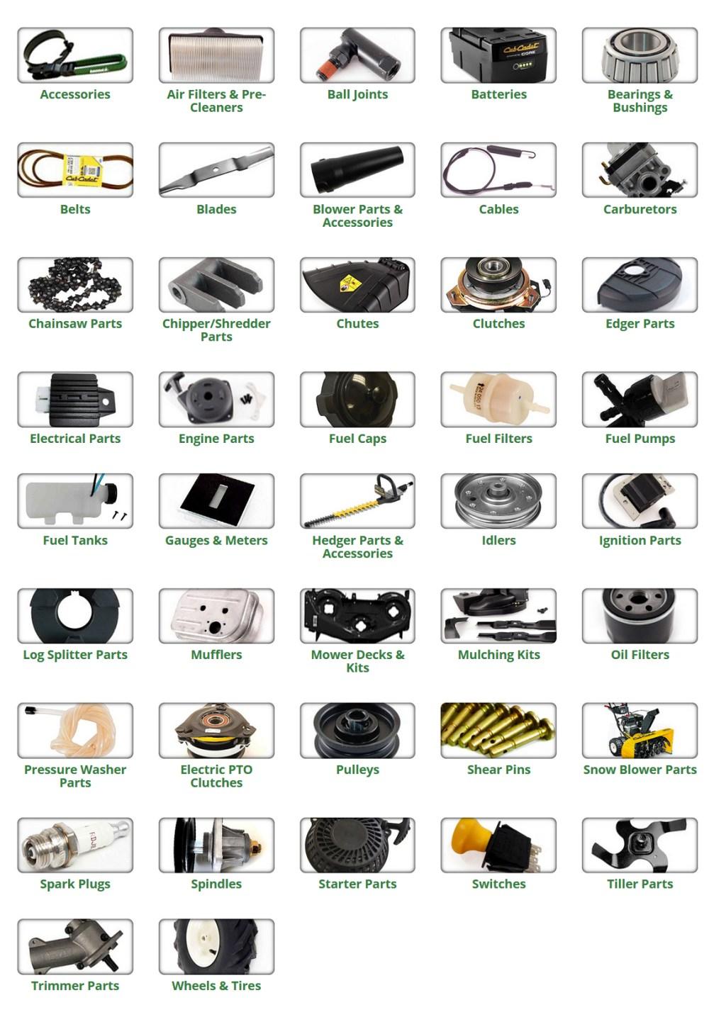 medium resolution of cub cadet parts and accessories