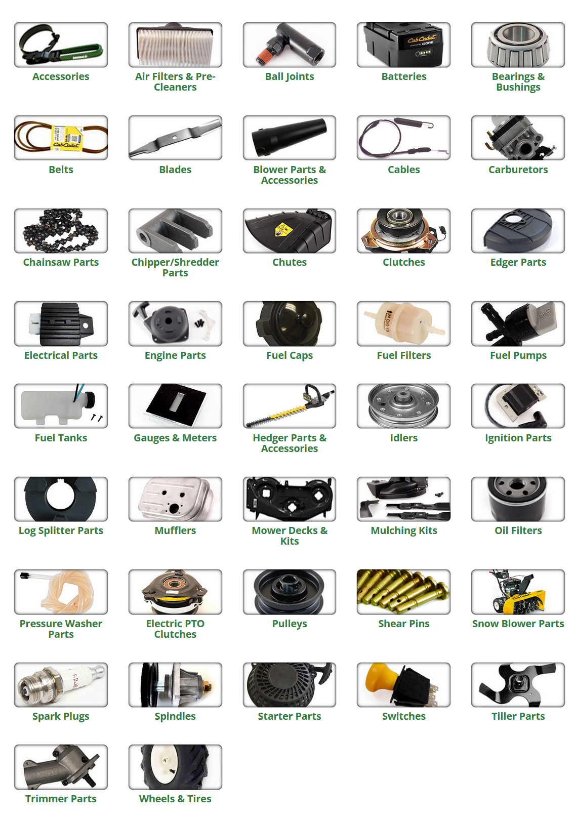 hight resolution of cub cadet parts and accessories
