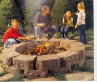 Fire Pit made out of pavers??????? | LawnSite