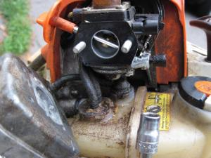 Stihl FS90R carb repair  replace gasketdiaphragms (pictorial) | LawnSite