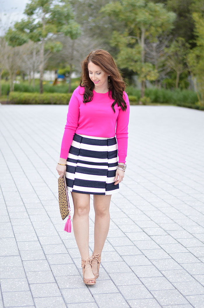 Pink and Navy Stripes  Law of Fashion Blog