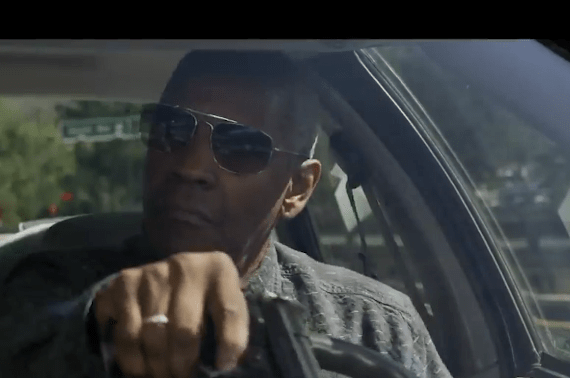 Denzel Washington salutes cops.