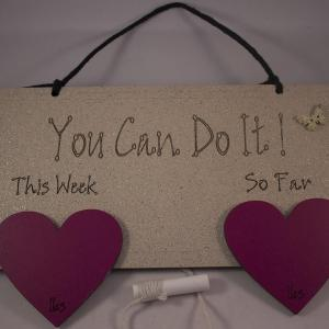 2 heart you can do it weight loss plaque
