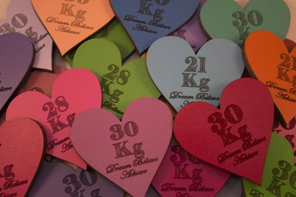 heart shape magnetic kg losses