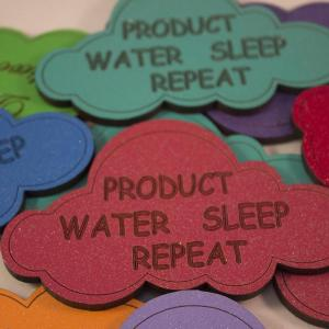 large cloud shape magnetic product water sleep repeat