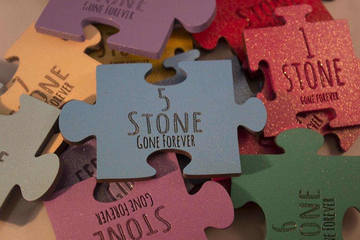 Stone Loss Jigsaw Shape