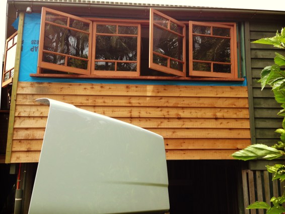 Side exterior - during