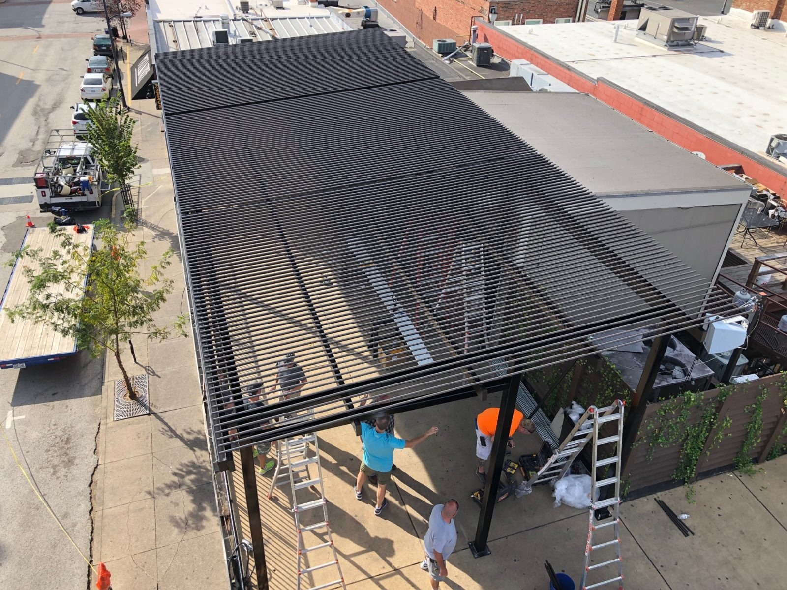commercial metal awnings commercial
