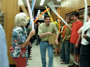 Local tax night celebration at the post office