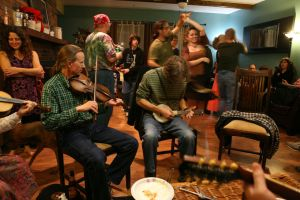 House party - food, music, dance and socialization