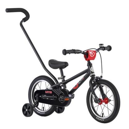 ByK E-250 Boys MTB Kids Bike - Matte Black Front