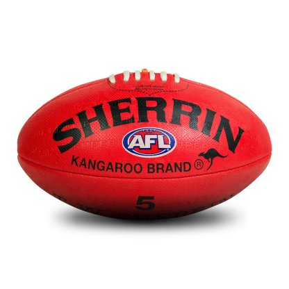 Sherrin KB All Surface Red Football - Size 5 Hero