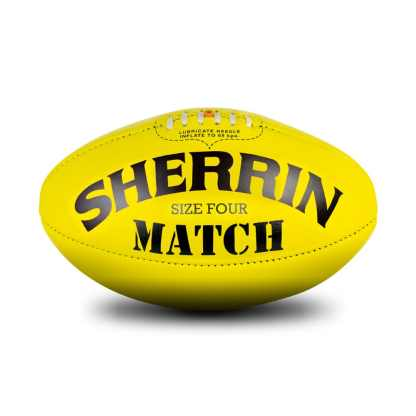 Sherrin Yellow Match Game Football - Size 4