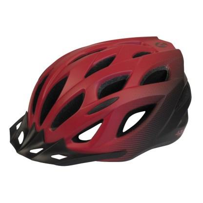 Azur L61 Bike Helmet   Satin Red/Black Fade