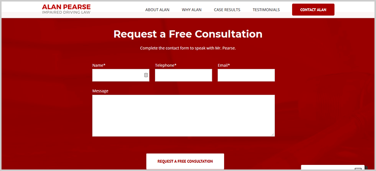 Contact form on website which can easily be connected to a legal CRM for real time transfer of information.