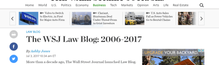 Wall Street Journal Shuts Down Its Law Blog
