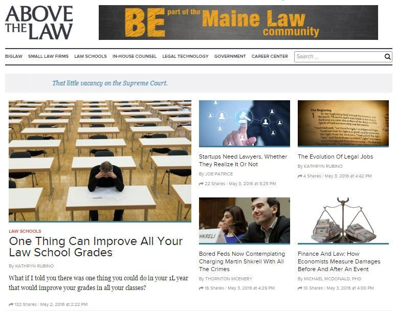 Happy to Announce that I Am Joining the Above the Law Network   LawSites