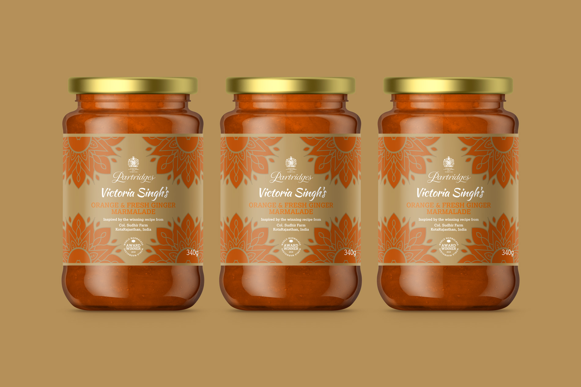 Partridge's of London - Commonwealth Marmalade Label Design