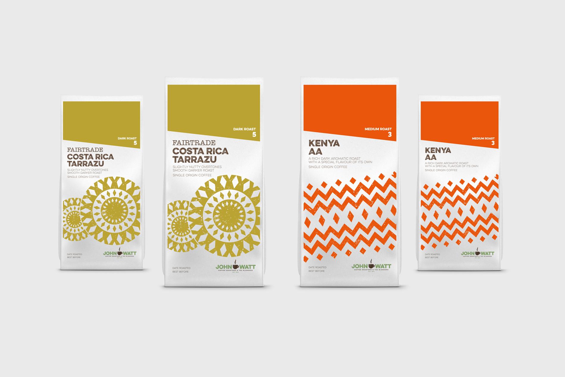 John Watt & Son - Coffee Bag Design, Carlisle