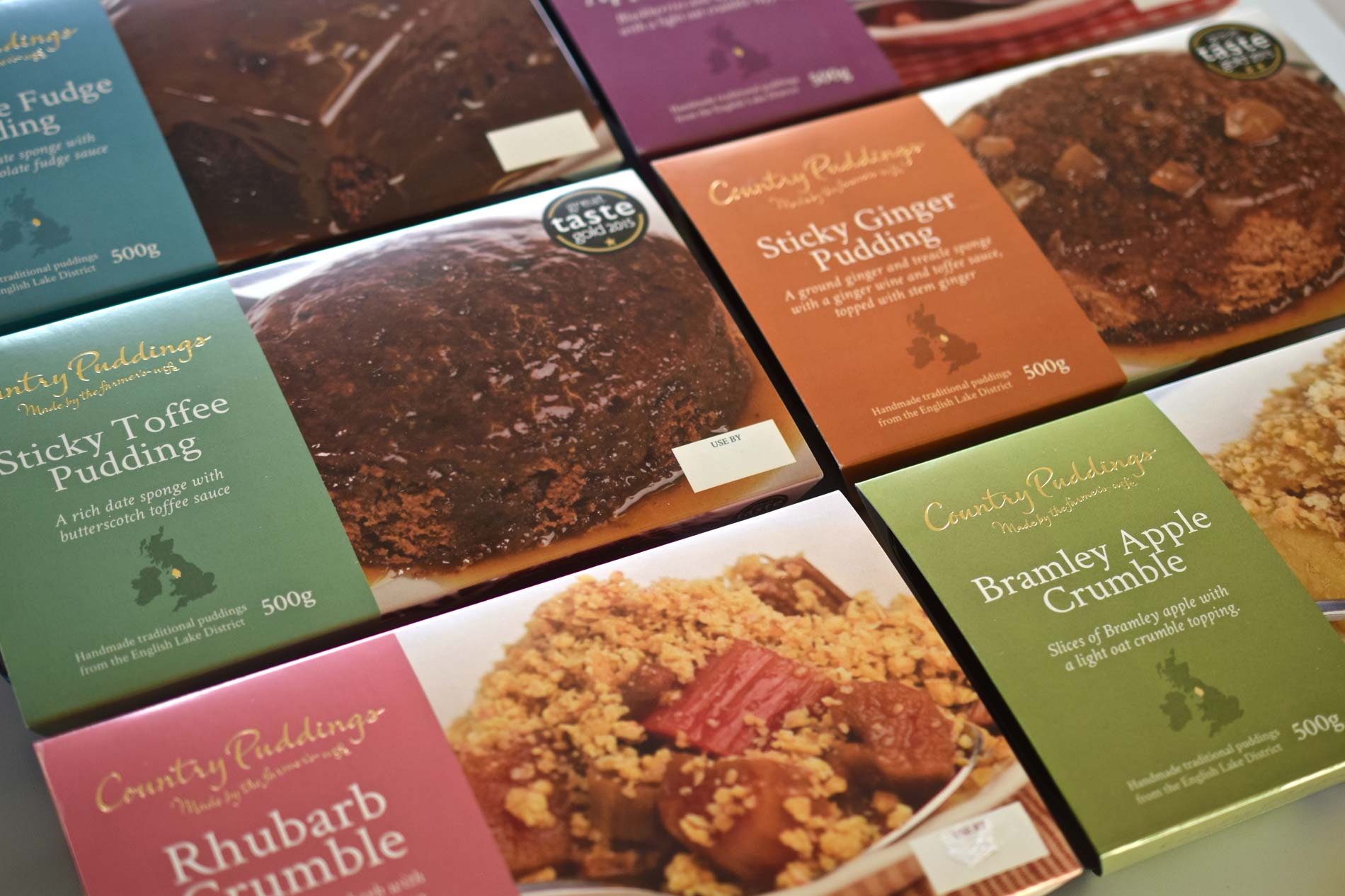 Country Puddings branding, logo and packaging design