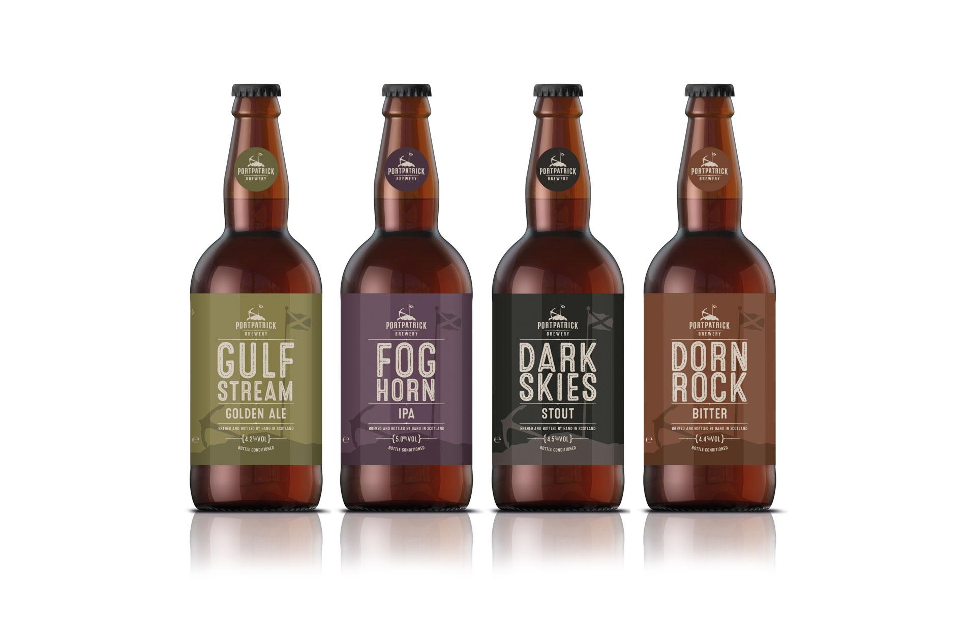 Portpatrick Brewery Beer Brand Label Designs