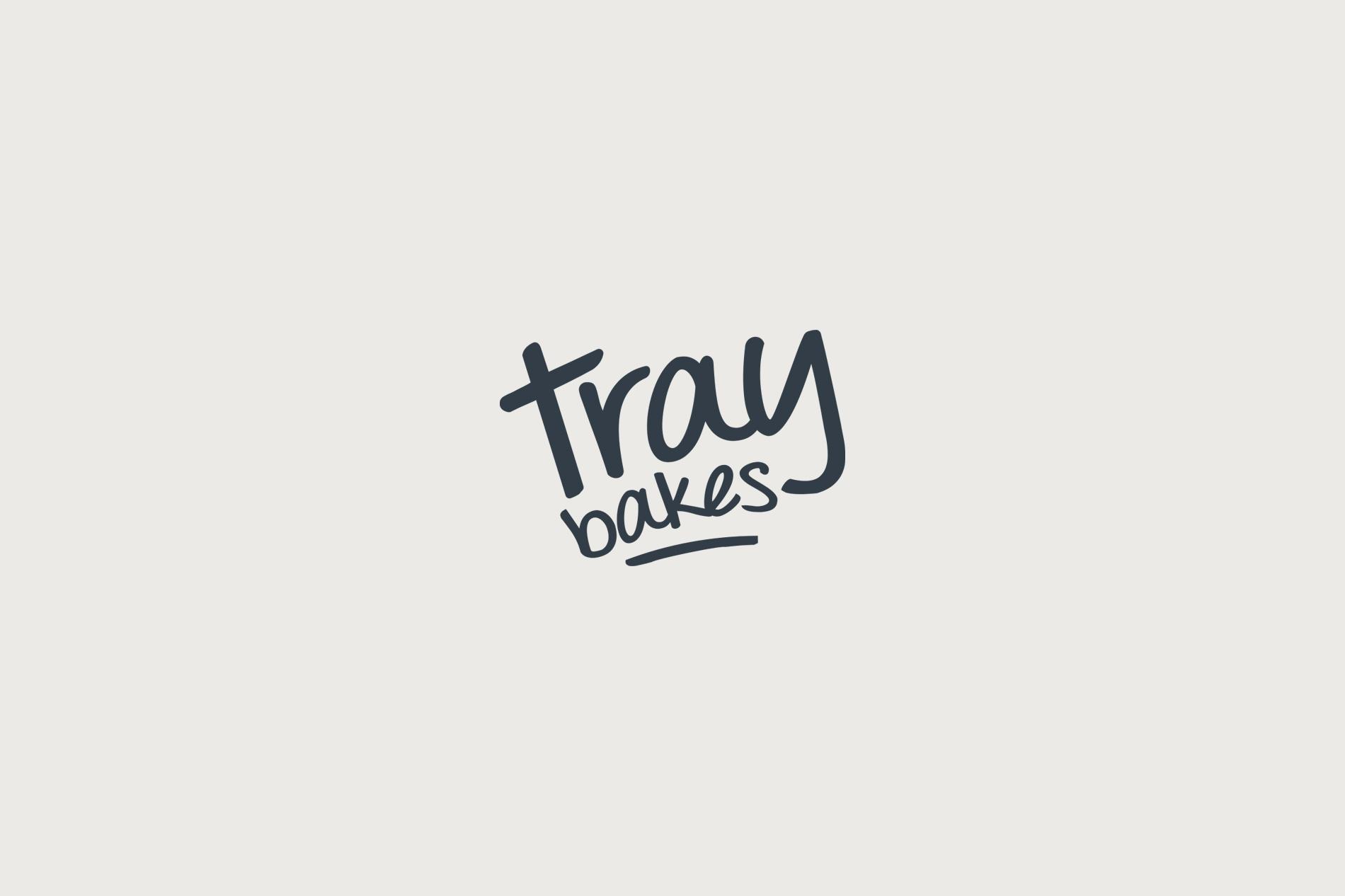Traybakes logo design, business brand identity