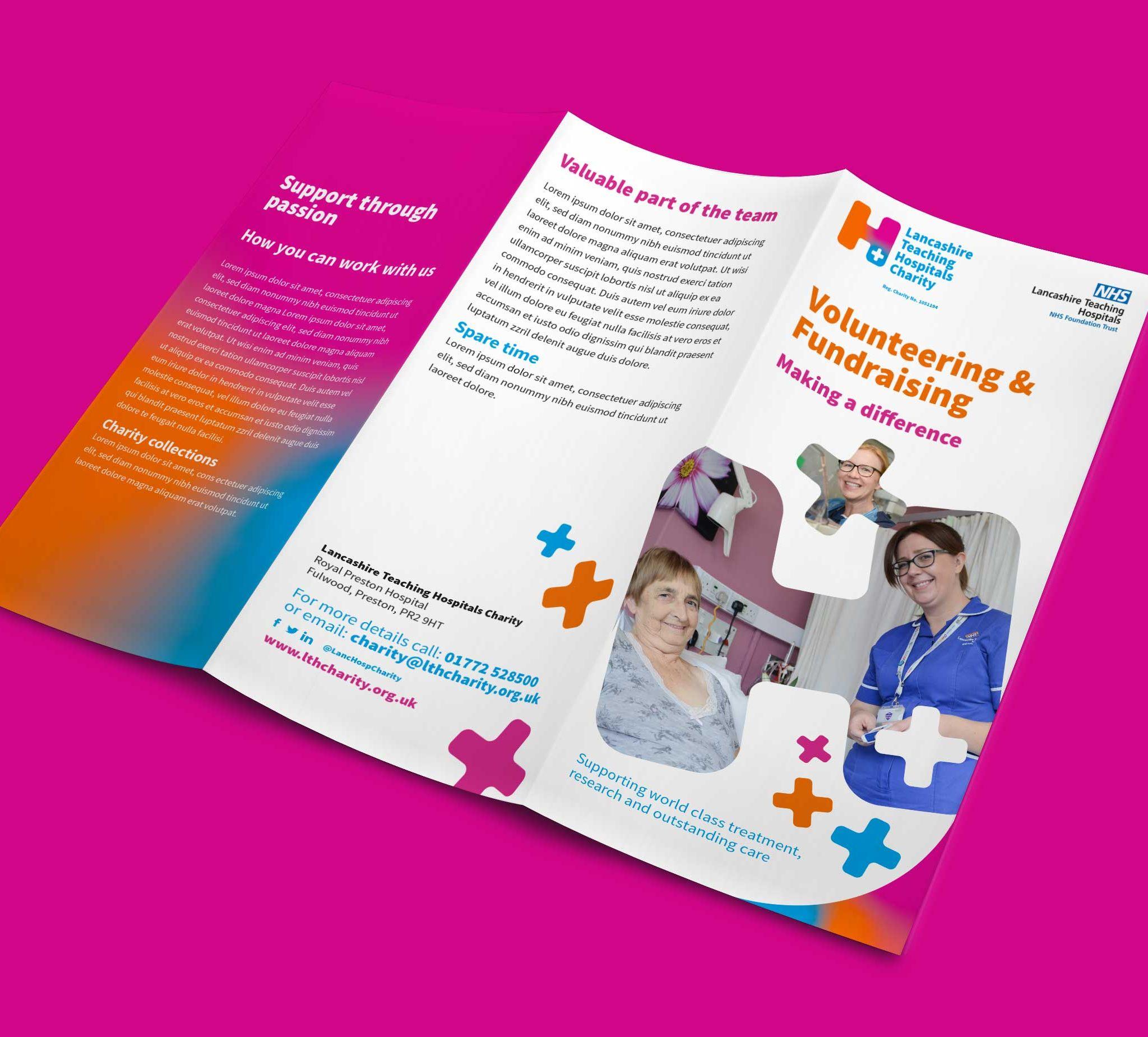 Lancashire Teaching Hospitals Charity Leaflet Design