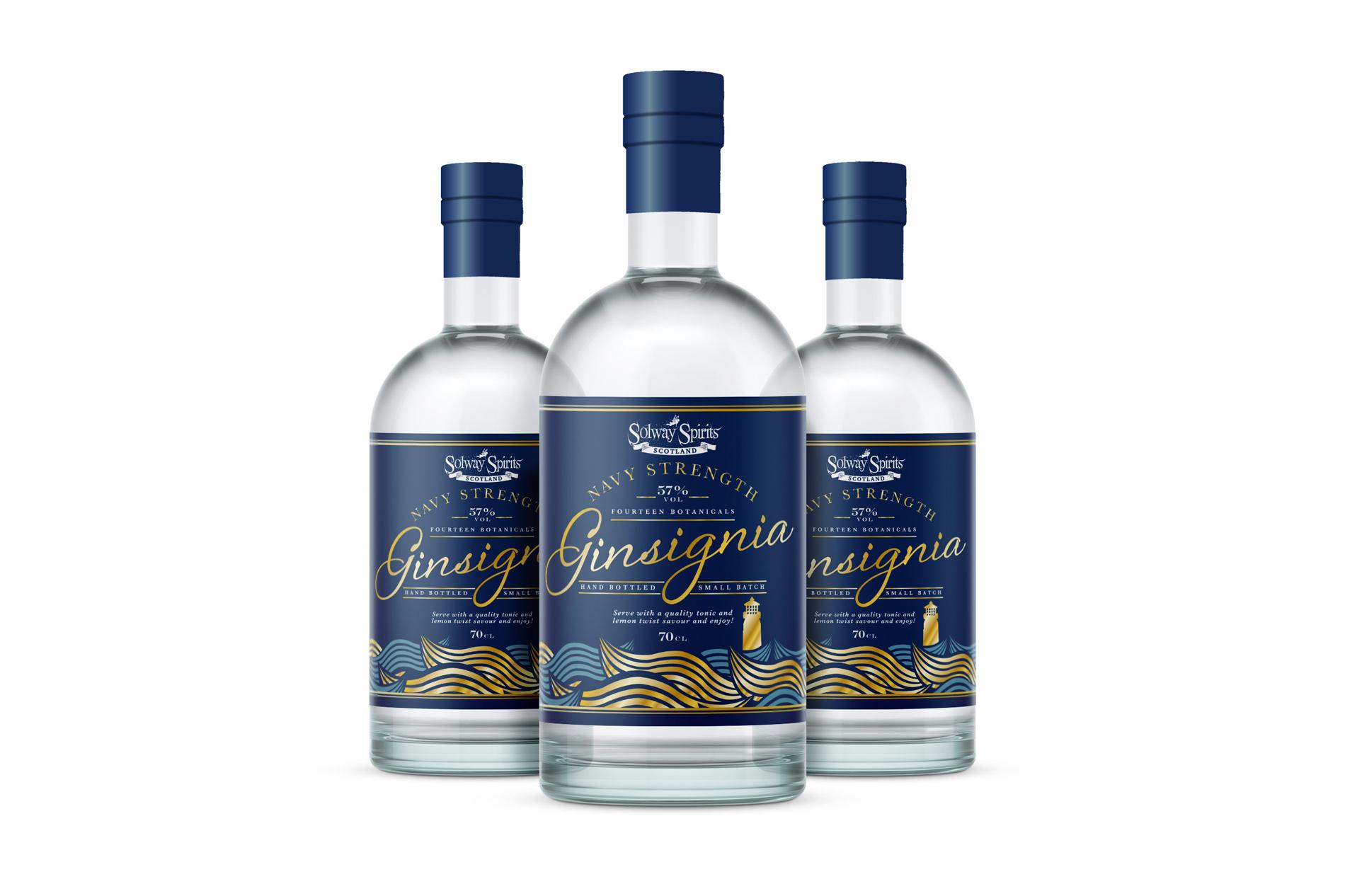 Solway Spirits, Annan, Gin label Design