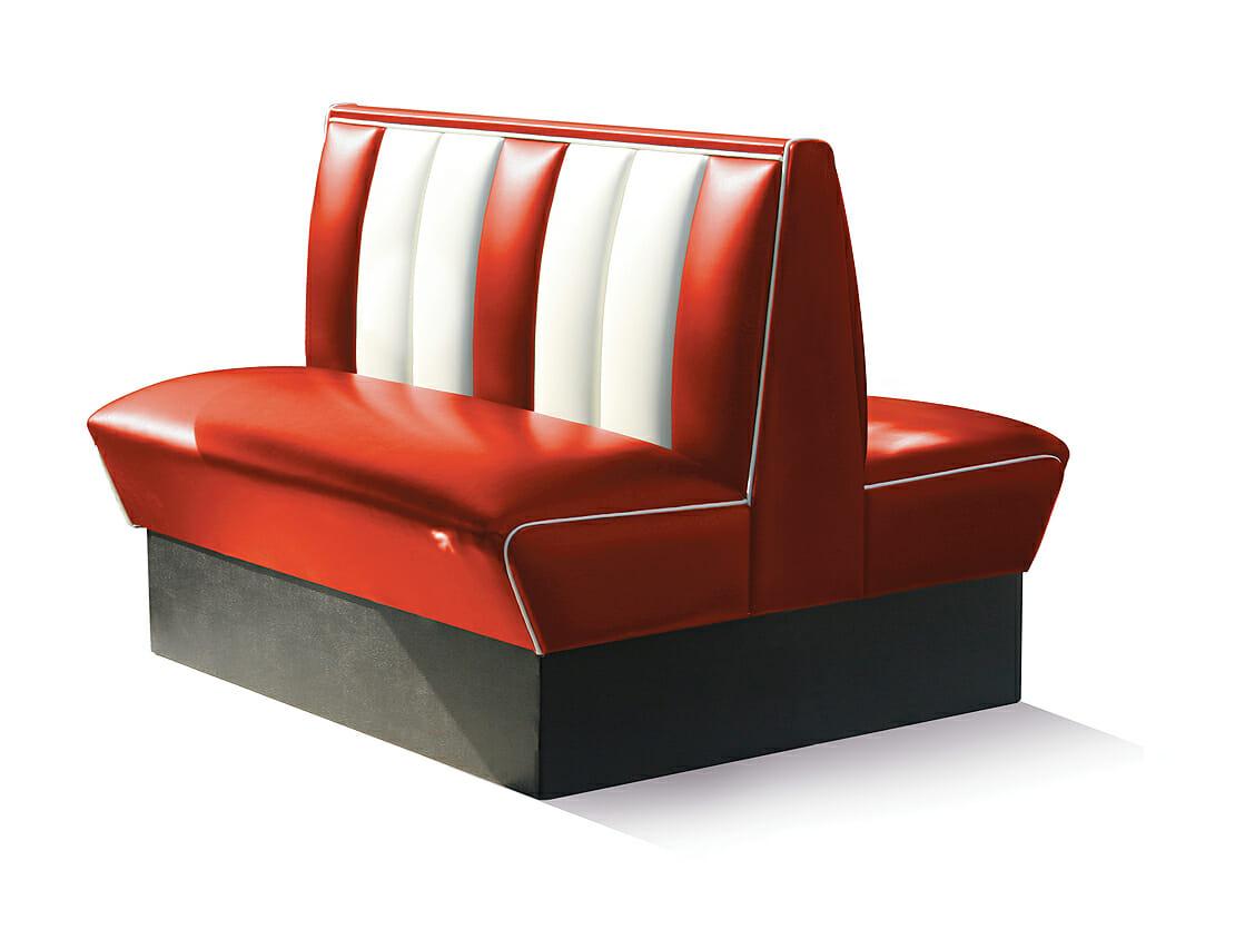 Retro Furniture Diner Booth HW120DB  Back 2 Back  Two